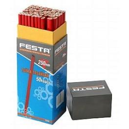 Tužka tesařská (červený lak) 250mm, 50ks